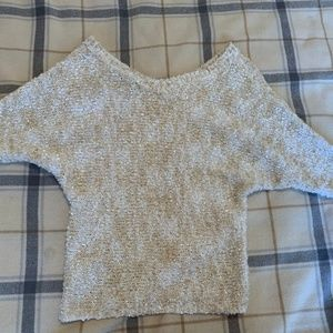 Jessica Simpson White Dolman Sleeve Sweater